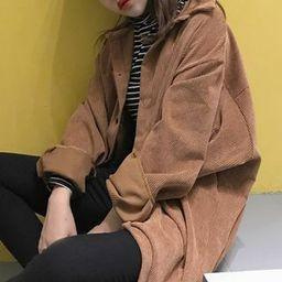 Corduroy Buttoned Long Jacket | YesStyle Global