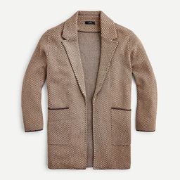 Sophie open-front sweater-blazer in chevron | J.Crew US