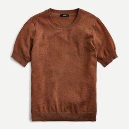 Short-sleeve silk-blend crewneck sweater | J.Crew US