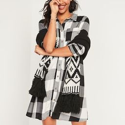 Buffalo Plaid Flannel Swing Shirt Dress for Women | Old Navy (US)