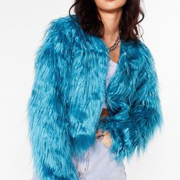 Womens Why So Touchy Shaggy Faux Fur Jacket - Teal | NastyGal (US & CA)