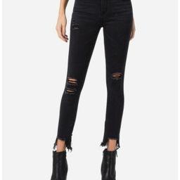 Vervet Mid Rise Distressed Shark Bite Zipper Hem Skinny Ankle Jeans | Macys (US)