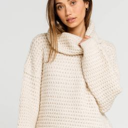 WEST OF MELROSE Just Roll With It Cowl Neck Ivory Sweater | Tillys