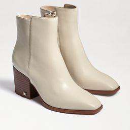 Sam Edelman Cari Block Heel Bootie Modern Ivory | Sam Edelman