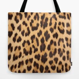 Primitive Trendy Stylish Fashionable Safari Animal Leopard Canvas Tote Bags by Chicelegantboutique - | Society6
