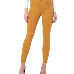 Liverpool Gia Glider Ankle Skinny Pull-On Jeans in Honey (Honey) Women's Jeans | Zappos
