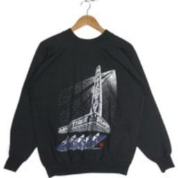 Vintage Memorabilia Sweatshirt Broadway Showtime Printed Graphic Black Crew Neck Unisex Clothing Siz | Etsy (US)