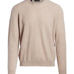 Saks Fifth Avenue Men's COLLECTION Lightweight Cable Knit Sweater - Tan - Size Large   Saks Fifth Avenue