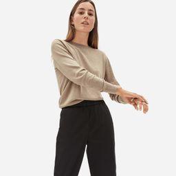 Women's Organic Cotton Crewneck Sweater by Everlane in Tan, Size M   Everlane
