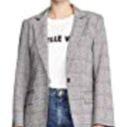 Joie Women's Aalyah Blazer, Caviar, Black, Grey, Plaid, 8 | Amazon (US)