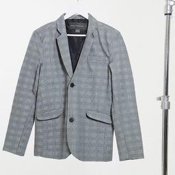 French Connection slim fit formal plaid blazer-Grey | ASOS (Global)