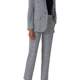 Jason Wu Collective Grey Plaid Button Blazer | Rent The Runway