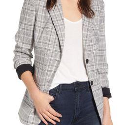 Women's Chelsea28 Plaid Blazer, Size Medium - Grey | Nordstrom