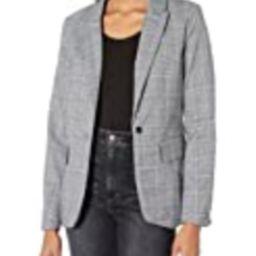 dollhouse Women's Fitted Blazer, Grey Blue Plaid, Large | Amazon (US)