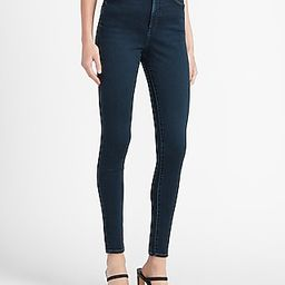 Super High Waisted Dark Wash Skinny Jeans, Women's Size:12   Express