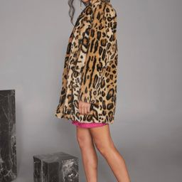 Womens Wild Heart Leopard Faux Fur Coat   NastyGal (US & CA)
