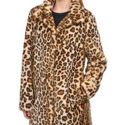 Calvin Klein Petite Leopard Faux-Fur Coat   Macys (US)