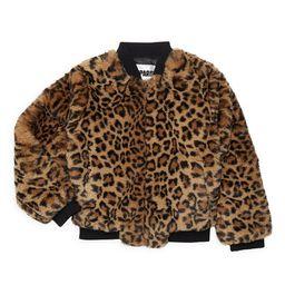 Apparis Little Girl's & Girl's Leopard Print Faux Fur Bomber - Leopard - Size 6   Saks Fifth Avenue