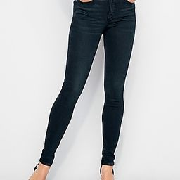 High Waisted Denim Perfect Curves Dark Wash Skinny Jeans, Women's Size:18 Short   Express
