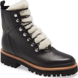 Izzie Genuine Shearling Lace-Up Boot   Nordstrom