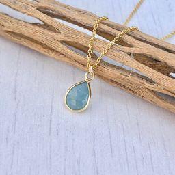 Aquamarine Necklace March Birthstone Minimal Aquamarine | Etsy | Etsy (US)
