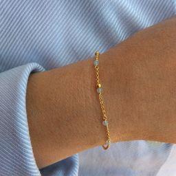 Aquamarine bracelet sterling silver 925 bracelet minimalist | Etsy | Etsy (US)