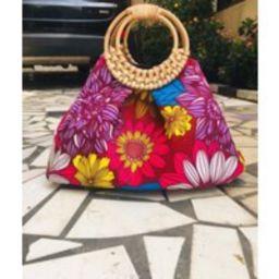 "Prisca """"Boho' Rattan African Bag, Patches 100% Cotton, Prints, Ankara Bag   Etsy (US)"