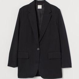 H & M - Oversized Jacket - Black | H&M (US)