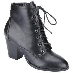 Weeboo Women's Casual boots BLACK - Black Ramona Lace-Up Bootie - Women | Zulily
