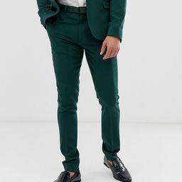 ASOS DESIGN super skinny suit pants in dark green-Blue | ASOS (Global)