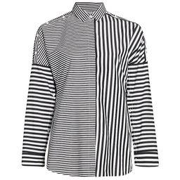 Akris punto Women's Cotton Multi-Stripe Blouse - White Black - Size 4 | Saks Fifth Avenue