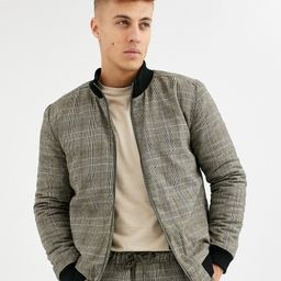 Native Youth wicker plaid bomber CO-ORD-Brown | ASOS (Global)