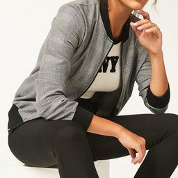 Bloggers Boutique Women's Non-Denim Casual Jackets GREY - Gray Glenn Plaid Bomber Jacket - Women | Zulily
