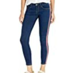 CG JEANS Cute Side Race Juniors Skinny Fit Slim Low Rise Denim, Dark Red Stripe, 3 | Amazon (US)