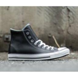 Black Leather Converse High Top Mens Groom Bride Custom with Swarovski Crystal Rhinestones Bling Chu | Etsy (US)