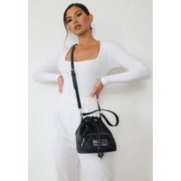 Black Missguided Nylon Bucket Bag | Missguided (US & CA)