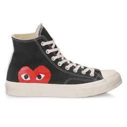 Comme des Garcons Play Men's Comme des Garçons Play x Converse High-Top Sneakers - Black - Size 10 M | Saks Fifth Avenue