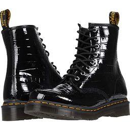 Dr. Martens 1460 (Black Patent Lamper Croc Emboss) Women's Boots | Zappos
