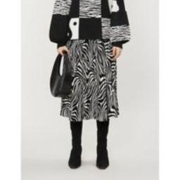 Viviynn zebra-print crepe midi skirt | Selfridges