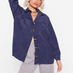 Womens Don't Texture Back Oversized Corduroy Shirt - Denim | NastyGal (US & CA)