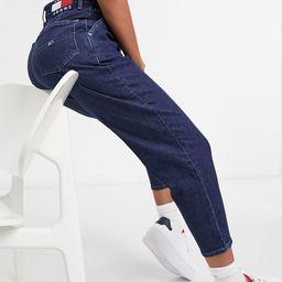 Tommy Jeans mom jean in dark wash-Navy | ASOS (Global)