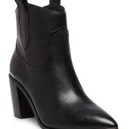 Steve Madden Women's Casual boots BLACK - Black Zora Leather Bootie - Women | Zulily