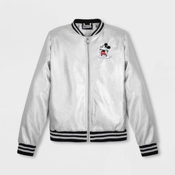 Women's Disney Mickey Mouse Bomber Jacket - Gray XL - Disney Store | Target