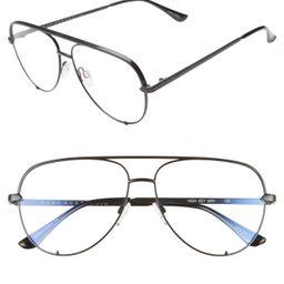 Women's Quay Australia High Key 58mm Blue Light Blocking Glasses - Black | Nordstrom