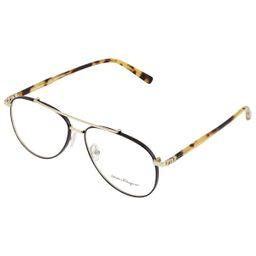 Salvatore Ferragamo Mens Black Aviator/Pilot Eyeglass Frames SF2184 733 56 | Jomashop.com & JomaDeals.com