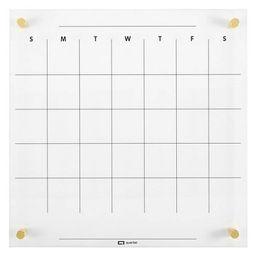 "Quartet 14"" x 14"" Glass Dry-Erase Calendar Board   Target"