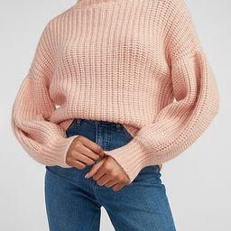 Chunky Balloon Sleeve Turtleneck Sweater   Express