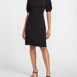Cinched Waist Puff Sleeve Sheath Dress | Express