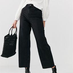 Vero Moda Tall wide culotte jean in black   ASOS (Global)