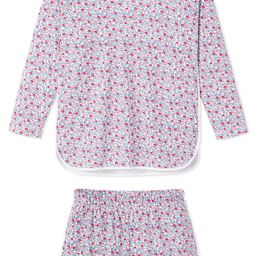 minnow x LAKE Pima Long-Short Set in Americana Floral | LAKE Pajamas